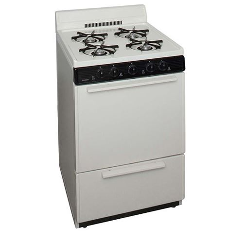 "Premier BCK100TP 24"" Cordless Steel Gas Range Bisque"