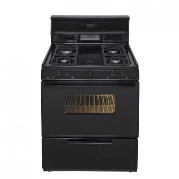 "Premier SMK340BP 30"" Electronic Ignition Gas Range Black"