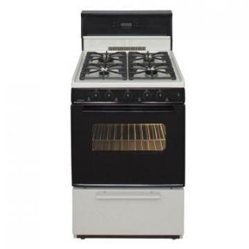 "Premier SJK340TP 24"" Electronic Ignition Gas Range Bisque"