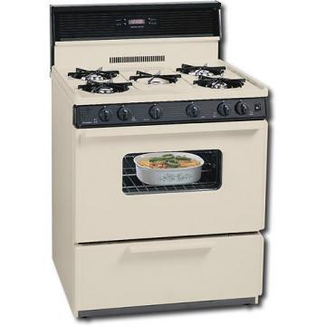 "Premier SFK249TP 30"" Electronic Ignition Gas Range Bisque"