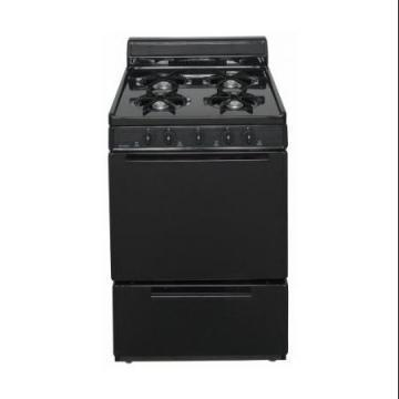 "Premier BCK100BP 24"" Cordless Steel Gas Range Black"