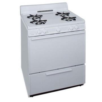 "Premier BFK100OP 30"" Cordless Steel Gas Range White"