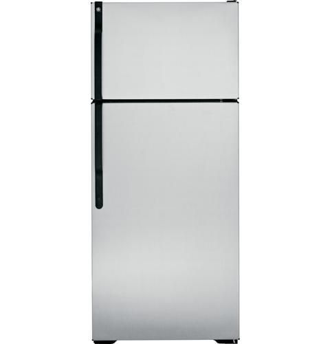 GE GTJ18CBESA 18.1 Cu Ft Refrigerator Right Hand Silver