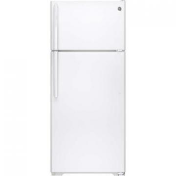 GE GTE18CTHWW 18 Cu Foot Top-Mount Refrigerator