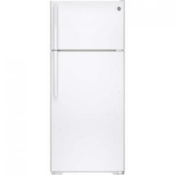 GE GTE18GTHWW 18 Cu Foot Top-Mount Refrigerator