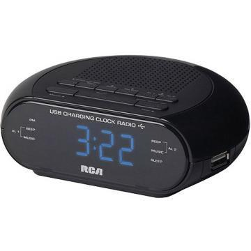 RCA USB Charging AM/FM Clock Radio