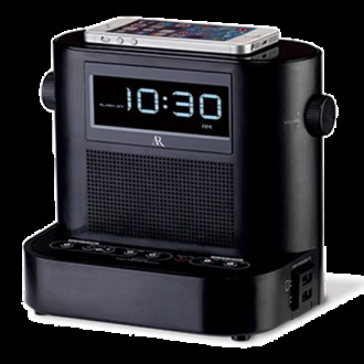 RCA Acoustic Research Universal Charging Soundflow Wireless Audio Clock Radio