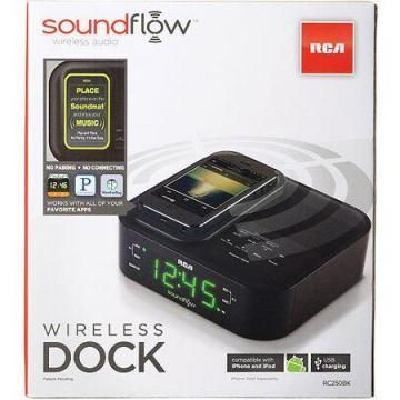 RCA Soundflow Wireless Dock Clock Radio with Charging