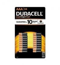 Duracell AAA Coppertop Alkaline Battery 34pk