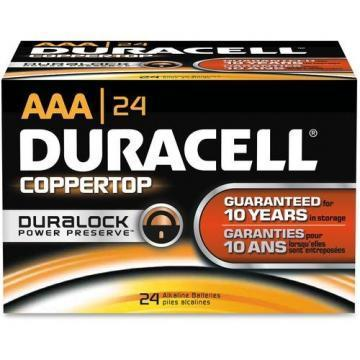 Duracell AAA Coppertop Alkaline Battery 24pk