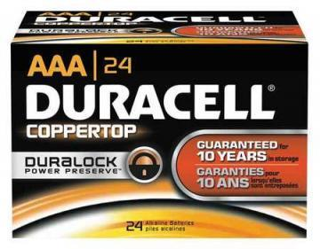 Duracell AA Coppertop Alkaline Battery 24pk