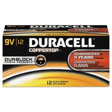 Duracell 9V Coppertop Alkaline Battery 12pk