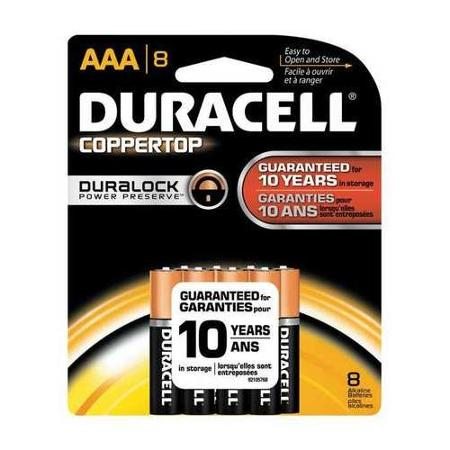 Duracell AAA Coppertop Alkaline Battery 8pk
