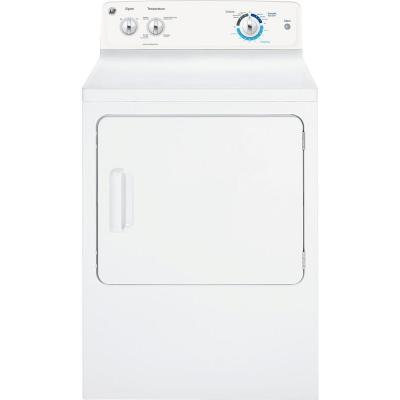 GE GTX18GSSJWW 6.0Cu Ft Gas Dryer 6 Cycle