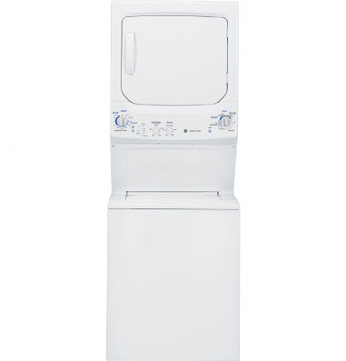 "GE GTUP270EMWW 27"" Unitized Spacemaker Washer And Electric Dryer"