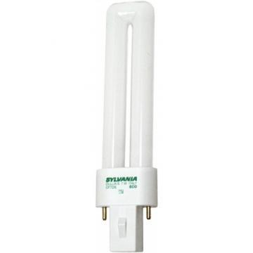 Sylvania Compact Fluorescent Bulb 7W Twin 3500K 2-Pin Base