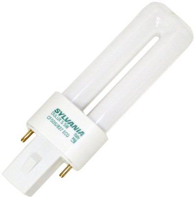 Sylvania Compact Fluorescent Bulb 5W Twin 2700K 2-Pin Base