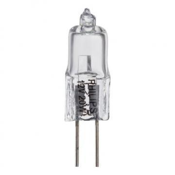 Philips Halogen Bulb 20W T3 G4 Base Clear