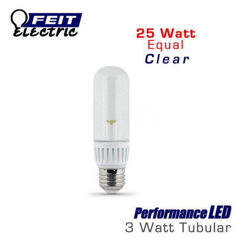 Feit LED Bulb 3W (25W Equivalent) T-10 Tubular Medium Base
