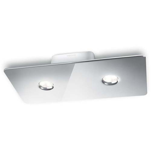 Philips Tabla 2-Light Ceiling Lamp In Glossy White Finish