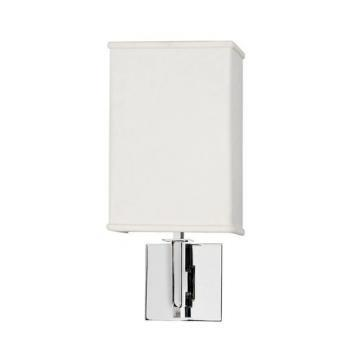 AFX Lighting 1-Light 13W Fluorescent Wall Sconce Polished Chrome Linen Shade