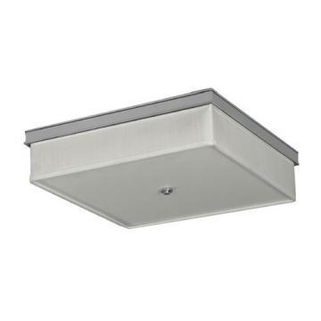 AFX Lighting 55W Fluorescent Square Ceiling Fixture Polished Chrome White Linen