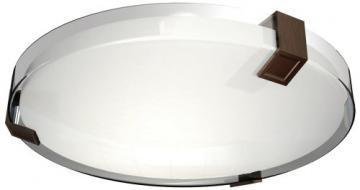 AFX Lighting Outdoor Fluorescent Ceiling Fixture, Oakley Bronze, White Lens
