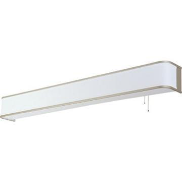AFX Lighting LED 3' Ideal Overbed Light, White Housing, Brushed Nickel