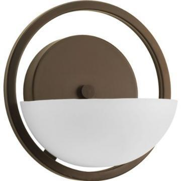 Thomas Lighting TN0005715 1-Light Wall Sconce Oiled Bronze Etched White Glass