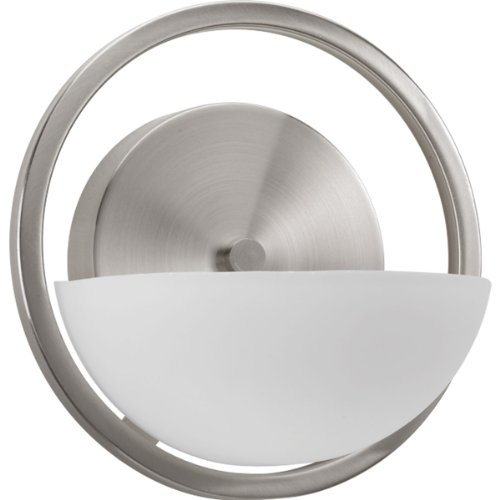 Thomas Lighting TN0005217 1-Light Wall Sconce Brushed Nickel Etched White Glass