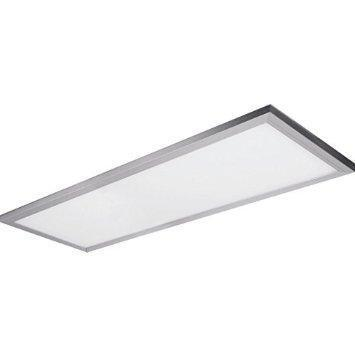 "Feit LED 2' Edge-Lit Ceiling Fixture, 24 Watt, Brushed Nickel, Low 1"" Profile"