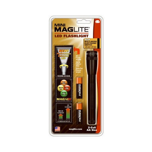 Maglite Mini-Mag 2 AA LED Flashlight Black