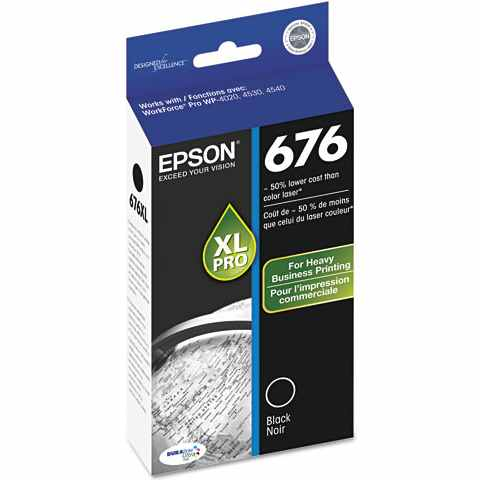 Epson DURABrite Ultra 676XL Black Ink Cartridge