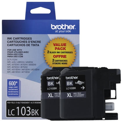 Brother LC1032PKS 2-Pack Innobella XL Black Ink Cartridges