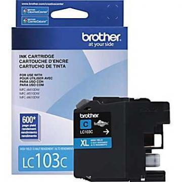 Brother LC103C XL Cyan Ink Cartridge