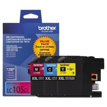 Brother LC1053PKS 3-Pack Innobella XXL Color Ink Cartridges