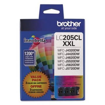 Brother LC2053PKS 3-Pack Innobella XXL Color Ink Cartridges