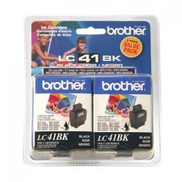 Brother LC41BK2PKS 2-Pack  Black Ink Cartridges