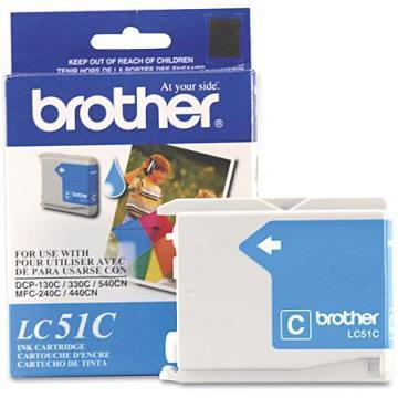 Brother LC51C Cyan Ink Cartridges