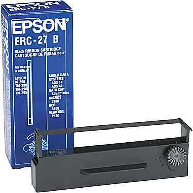 Epson ERC-27B Black Nylon Printer Ribbon