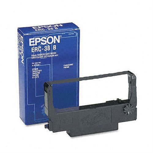 Epson ERC-38BR Black Red Fabric Ribbon