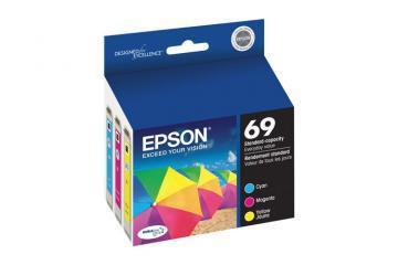 Epson 69, Color Ink Cartridges, C/M/Y 3-Pack