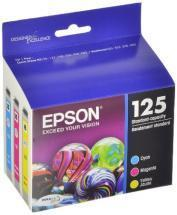 Epson 125 Color C/M/Y Ink Cartridges 3-Pack