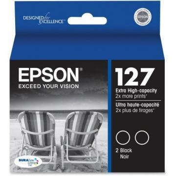 Epson 127 Black Ink Cartridge 2-Pack