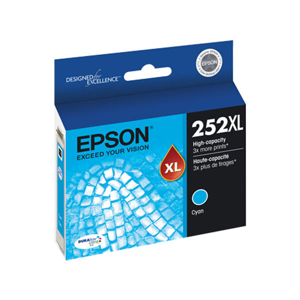 Epson DURABrite Ultra 252XL Cyan Ink Cartridge