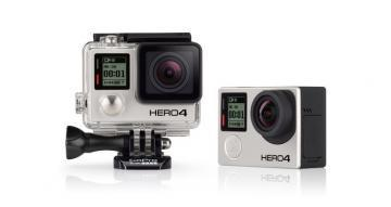 GoPro Hero4 Action Camera, Black or Silver