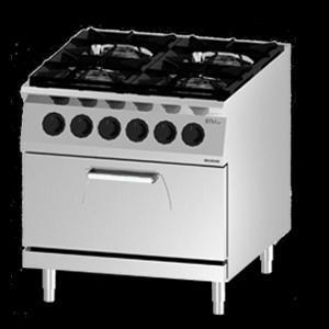 Giga EM Line 9 EM94CHE Gas boiling unit with 2/1 static electric oven