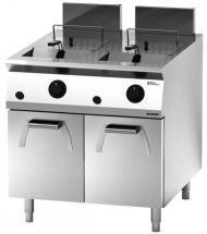 Giga EM Line 9 EM94FRG Gas fryer on cabinet with door