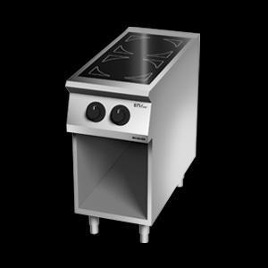 Giga EM Line 9 EM92PCV Ceramic-glass boiling unit on open cabinet