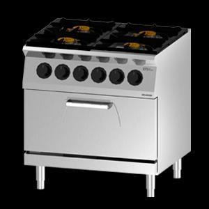 Giga EM Line 7 EM74CHE Gas boiling unit with 1/1 static electric oven